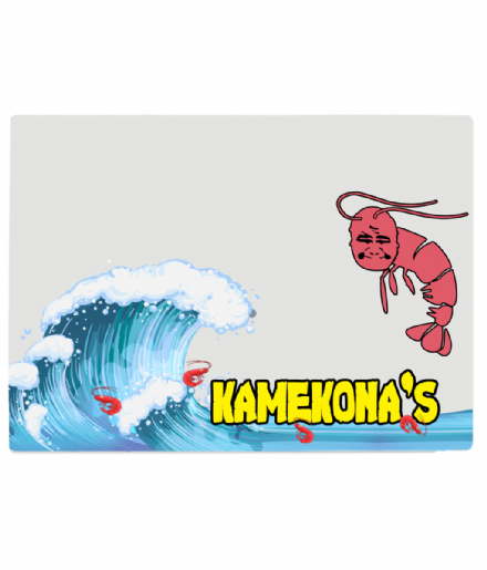 Hawaii Five-0 Kamekona's Shrimp Truck Tempered Glass Chopping Board
